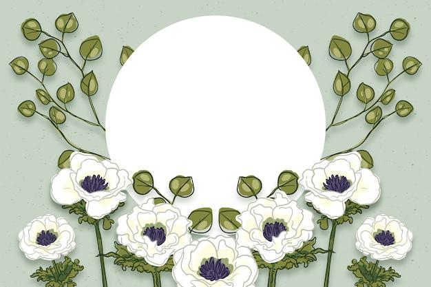 L'inverno fiorisce il fondo con il distintivo vuoto