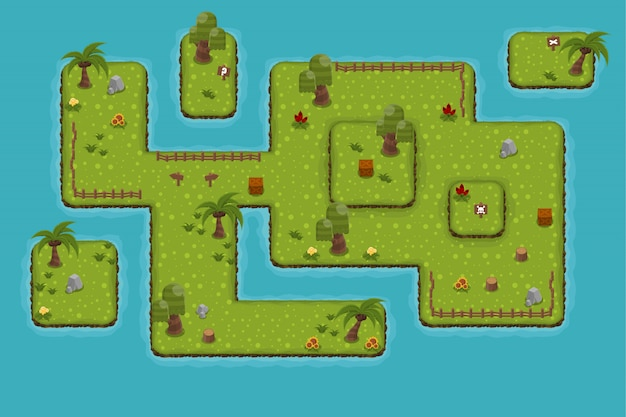 L'isola top down tileset
