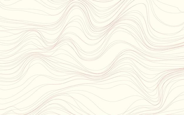 L'onda struttura il vettore del fondo della crema