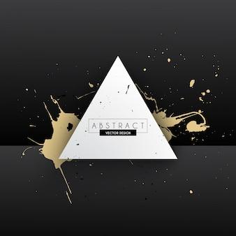 L'oro splatter elemento di design