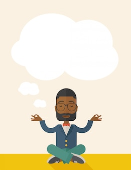 L'uomo d'affari africano ottiene l'idea