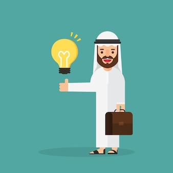 L'uomo d'affari arabo ha un'idea