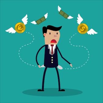L'uomo d'affari non ha soldi