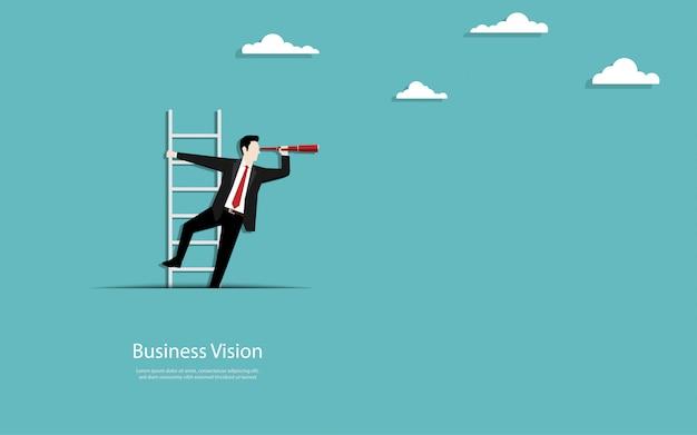 L'uomo d'affari scala le scale dal ritaglio di carta
