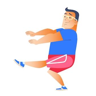 L'uomo grasso fa sport