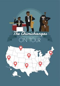 La band di chimichangas in tour