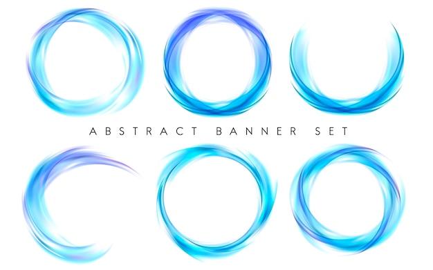 La bandiera astratta ha impostato in azzurro