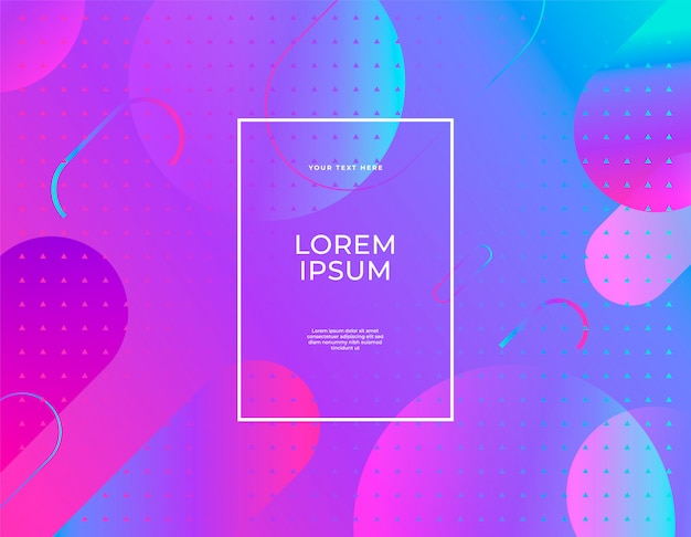 La bandiera astratta moderna ha impostato i colori ultravioletti di forma piana della chiazza liquida