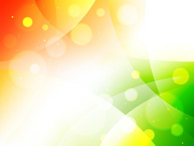 La bandiera indiana astratta colora il fondo decorato cerchio.