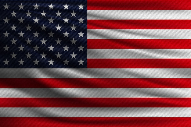La bandiera nazionale degli stati uniti.