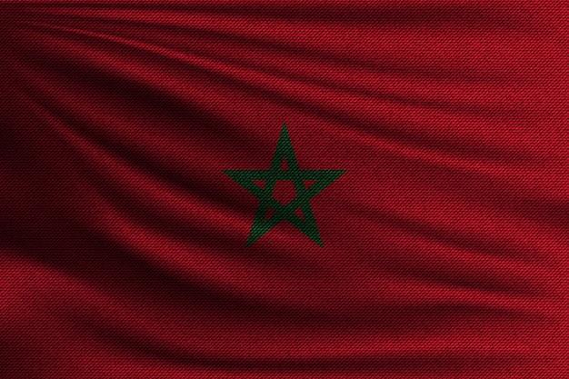 La bandiera nazionale del marocco.
