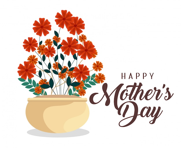 La bellezza fiorisce le piante alla celebrazione della festa della mamma