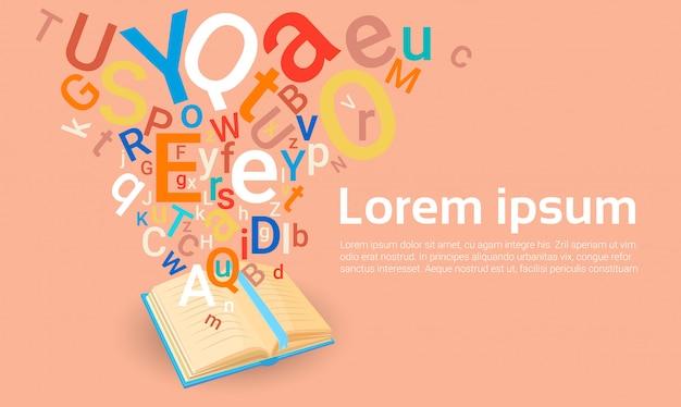 La biblioteca del libro aperto ha letto il concetto di conoscenza di istruzione scolastica