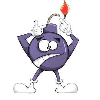 La bomba della ciliegia si incendia l'illustrazione.