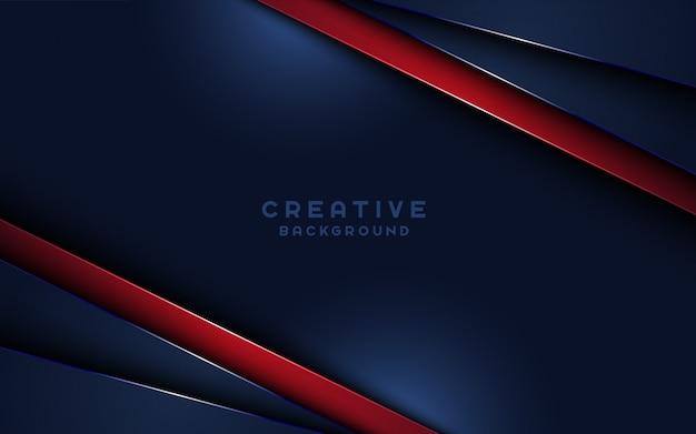 La carta astratta scura creativa mette a strati il fondo con i dettagli rossi.