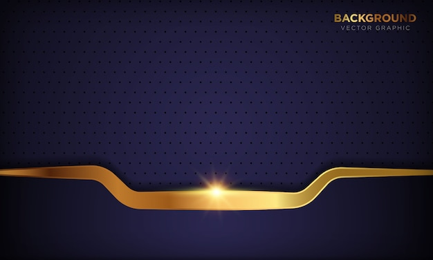 La carta porpora astratta di lusso scura modella il fondo con la linea dorata decorazione. texture con luce dorata splendente.