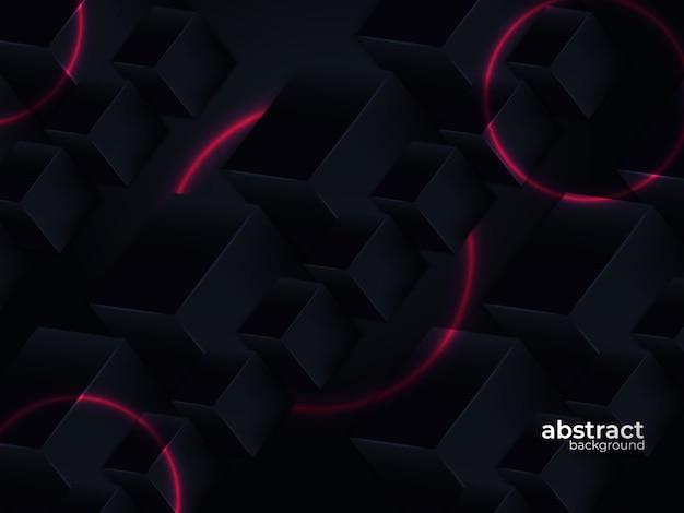 La carta stratificata realistica astratta ha tagliato il fondo del nero della decorazione con stile geometrico