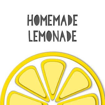 La carta vettoriale ha tagliato il limone giallo, ha tagliato le forme.