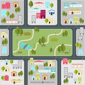 La cartina stradale della città