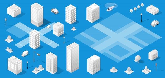 La città isometrica con grattacielo
