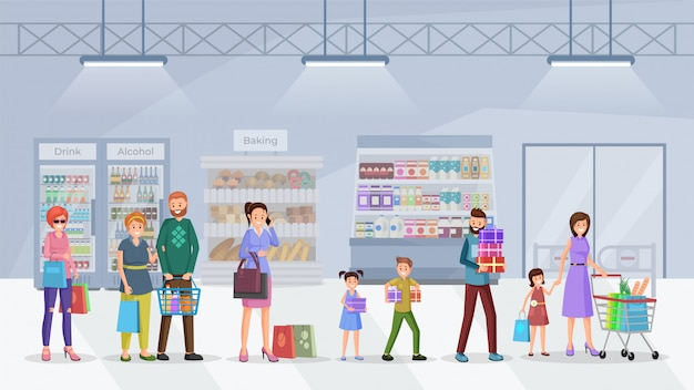 La coda del supermercato è piatta