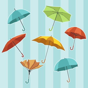 La collezione del set di ombrelli