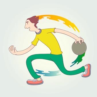 La competizione dell'atleta.
