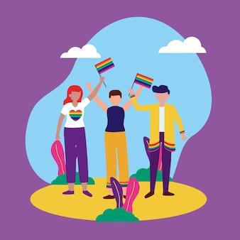 La comunità queer di progettazione lgbtq