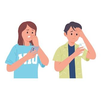 La coppia si è preoccupata guardando il loro gadget