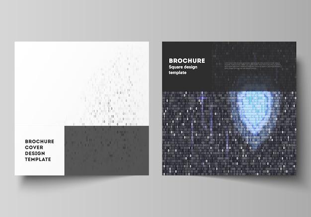 La disposizione vettoriale minima di due modelli di design di copertina formato quadrato