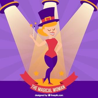 La donna illustrazione magica