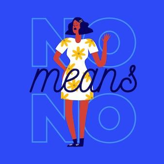 La donna in abito estivo non significa nessun concetto