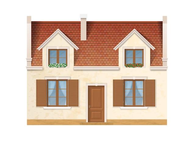 La facciata storica della casa europea