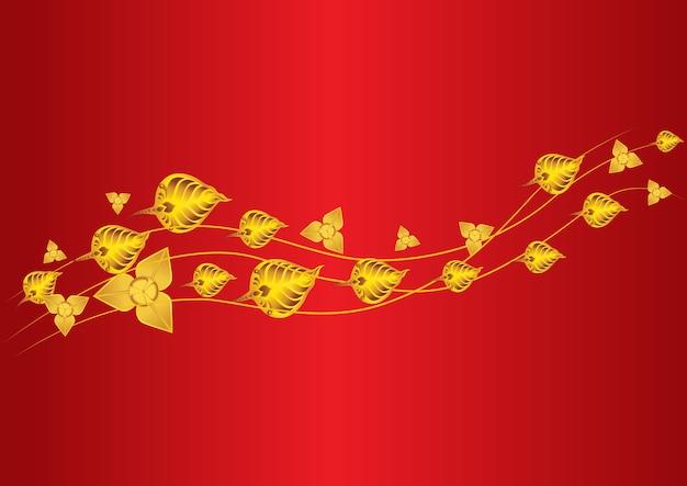 La foglia di oro vola ipnotizzare e foglia tailandese della foglia di bo
