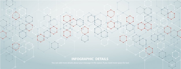 La forma del fondo di tecnologia dell'estratto di progettazione di massima di esagono