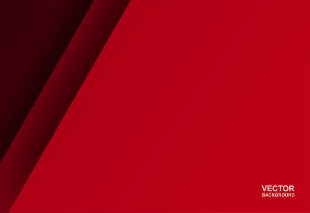 La forma geometrica rossa si sovrappone sullo sfondo