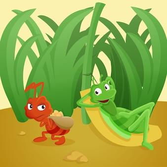 La formica e la cavalletta
