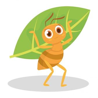 La formica si protegge dai predatori usa la foglia