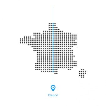 La francia ha doted il vettore di progettazione della mappa