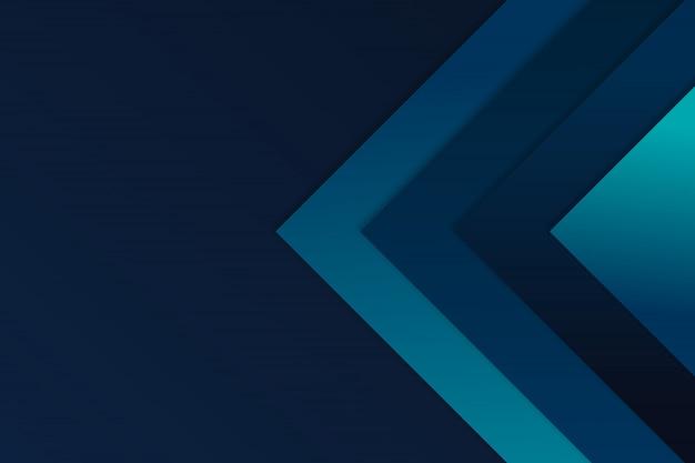 La freccia blu di angolo si sovrappone al fondo di vettore