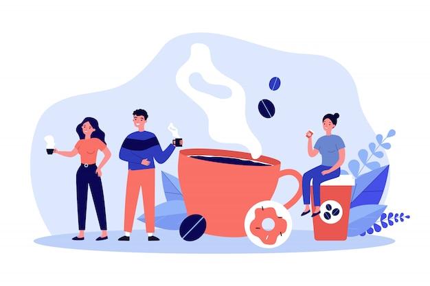 La gente all'illustrazione della pausa caffè