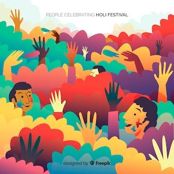 La gente celebra il festival di holi