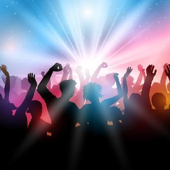 La gente che balla in un night club contorno