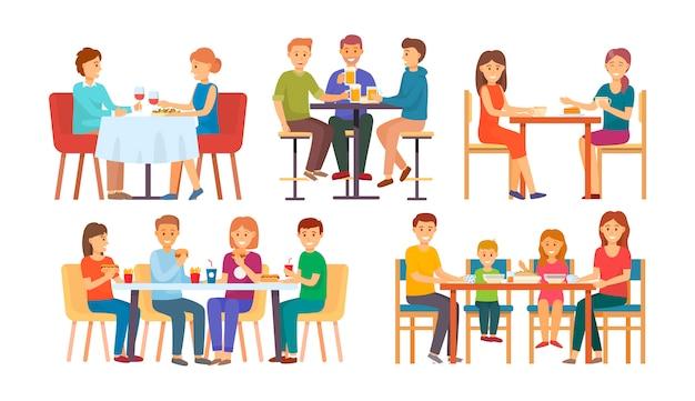 La gente che mangia e che beve insieme
