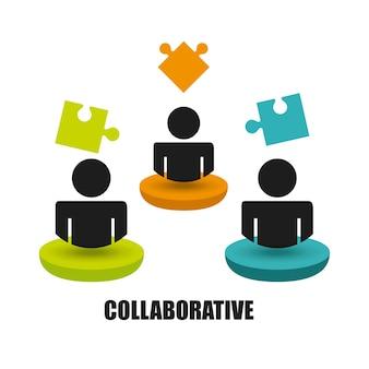 La gente colaborative progetta, vector il grafico dell'illustrazione eps10