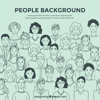 La gente disegna lo sfondo