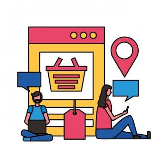 La gente lo shopping online