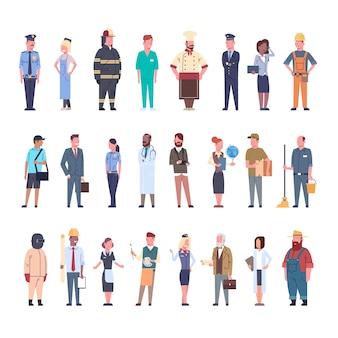 La gente raggruppa l'insieme differente di occupazione