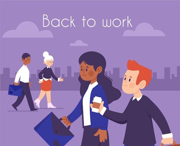 La gente torna a lavorare nell'illustrazione