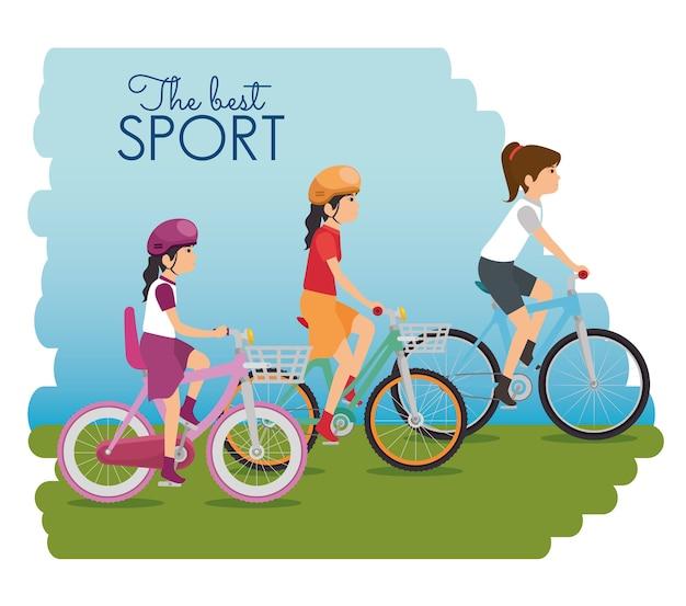 La gente va in bicicletta